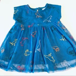 Hanna Andersson Girls Embroidered Dinosaurs Dress
